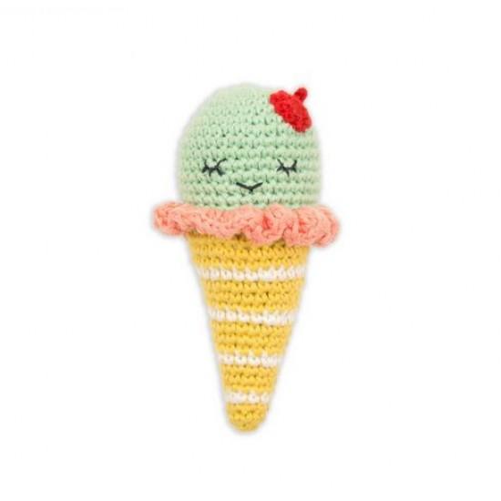 Weegoamigo Crochet Rattle - Ice Cream