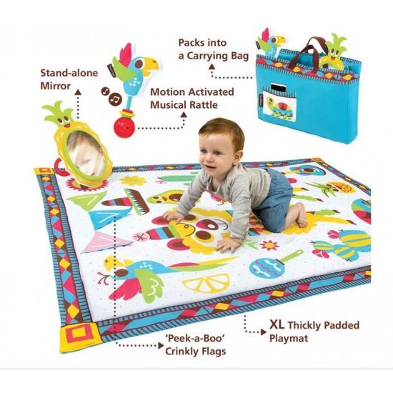 Yookidoo Fiesta Kids Baby Activity Playmat to Bag