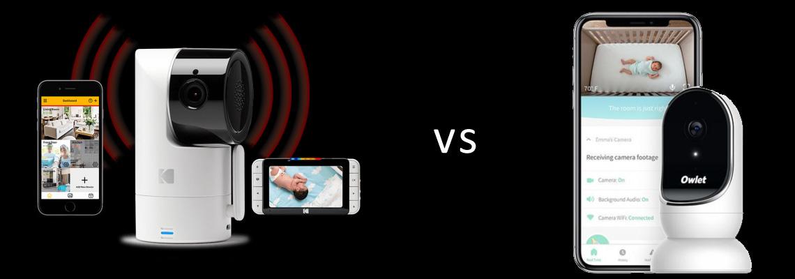 The Best Baby Monitors with Smart Phone Viewing - Kodak Cherish C525 vs Owlet Cam