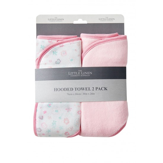 TLLC Hooded Towel 2Pk - Medow Bunnies